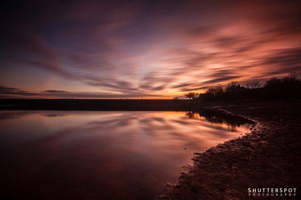 Sunset at Ardsley Reservoir
