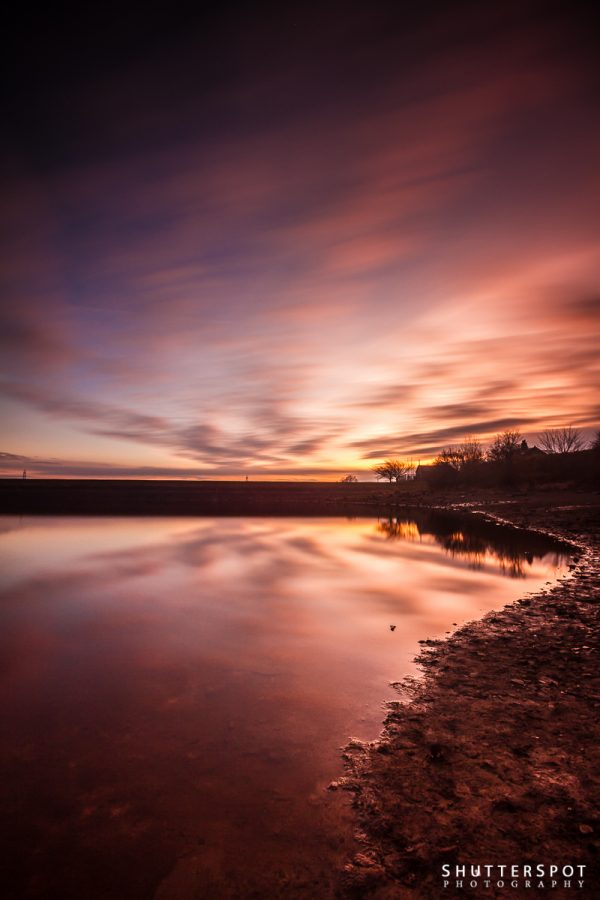 Sunset at Ardsley Reservoir Portrait