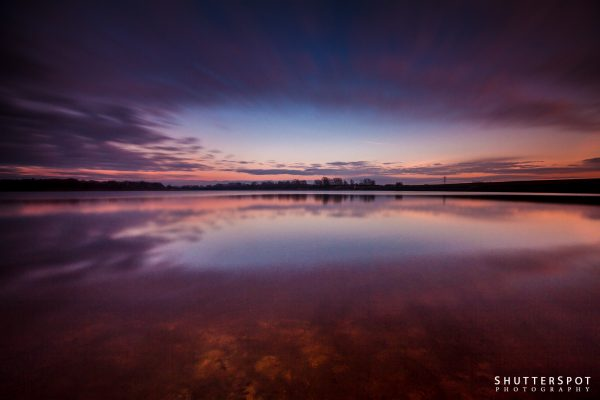 Sunset reflection at Ardsley