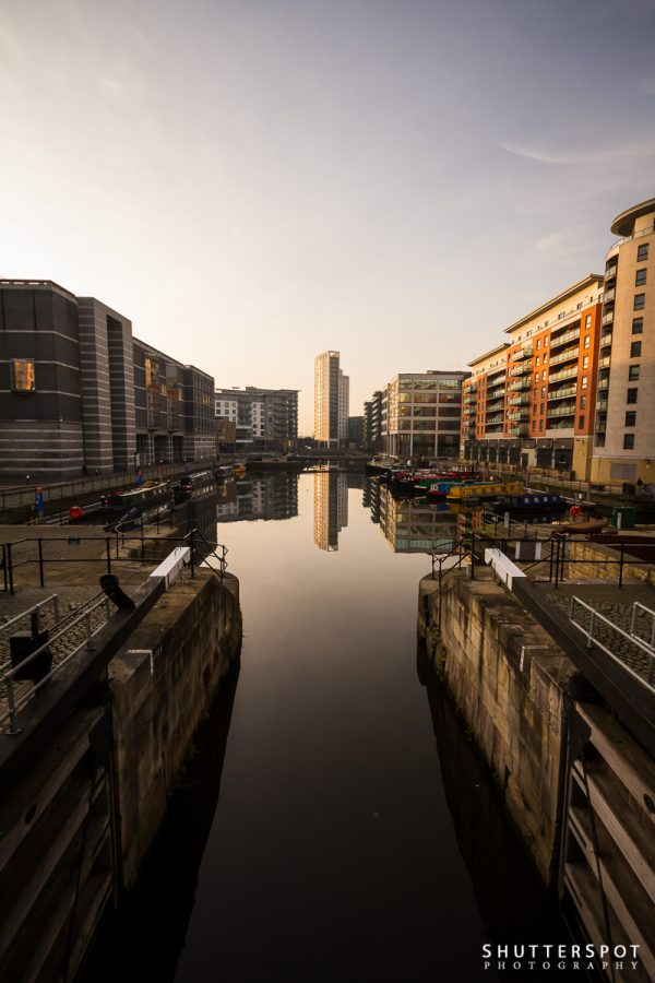 Sunrise over Clarence Dock